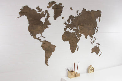 World Map Wall Art, Wooden World Map, World Map Poster, World Map Wall Decal, World Map Decal, Wood World Map, World Map, Map Decal