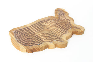Busy Board, Activity Board,  Labyrinth, Maze Runner, Wooden Toy, Educational Toy, USA,  Kids Gift