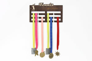 Medal Hanger, Tennis, Medal Display, Medal Rack, Medal Holder, Tennis Gifts, Gift for Boyfriend