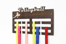 Load image into Gallery viewer, Volleyball, Medal Hanger, Volleyball Gifts, Medal Display, Medal Rack, Personalized Medal Holder