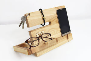 Charging Station Organizer, Wood Docking Station,Christmas Gift, Christmas Gift For Husband