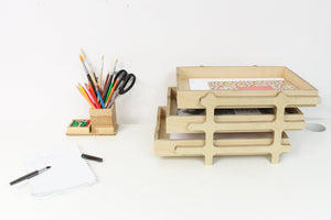 Desk Organizer, Desk Tray, Paper Tray, Wood Desk Tray, Wood Tray, Office Desk Accessories, Desk Accessories, Small Desk, Industrial Desk