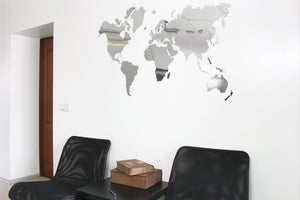 World Map Wall Art, World Map Wall Decal, World Map Poster, World Map Decal, Wood World Map, World Map, Map Decal, Mirror Wall Map