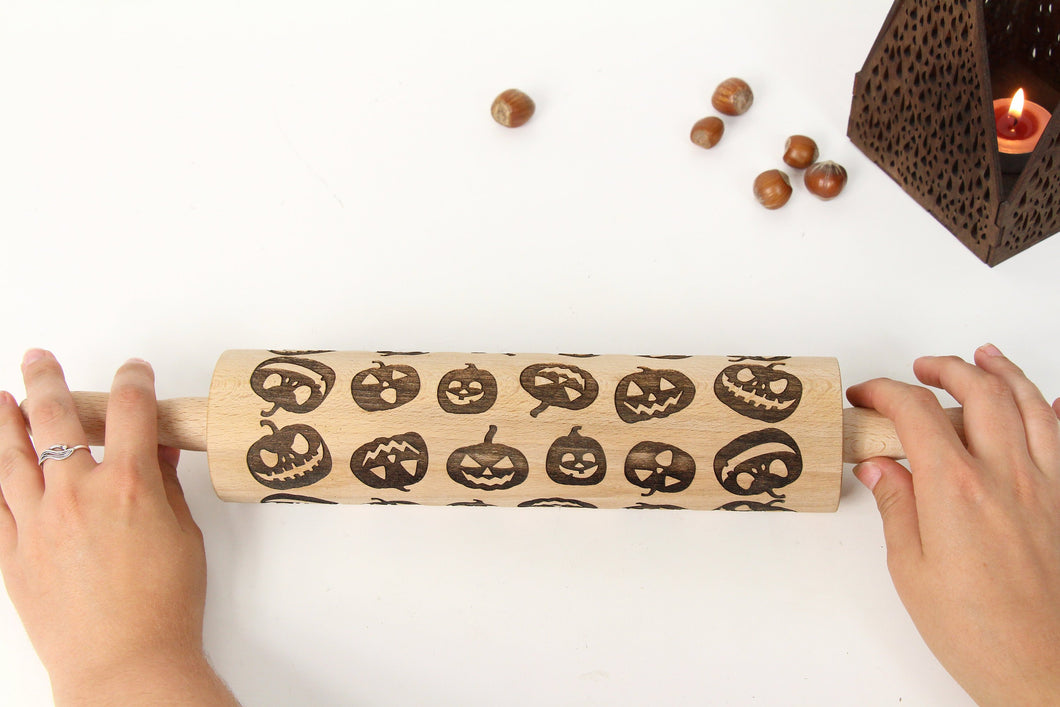 Rolling Pin For Halloween Cookies, Halloween Decorations, Halloween Gift, Pumkin Decor