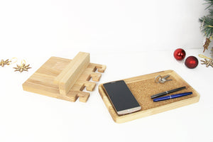 Entryway organizer, Mail and key holder, Wood valet tray, Catchall tray, Wooden Key Holder