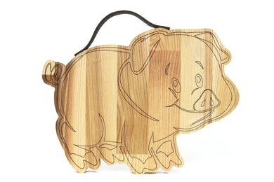 Pig cutting board, Pig gifts, Wooden cutting board, Chopping board, Boyfriend Christmas gift