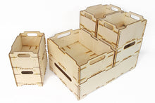 Load image into Gallery viewer, Plywood Box, Wood Crates, Wooden Crate Box, Wooden Toy Box, Toys Storage, Dog Toy Box, Fruit Box
