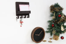 Load image into Gallery viewer, Rustic wall clock, Mail and key holder, Christmas gift set, Entryway organizer