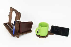 Men docking station Wood desk organizer Wood docking station Men organizer Wooden desk organizer
