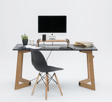 sustainable desk workspace birch anti-scratch laminated top workstation office Karya