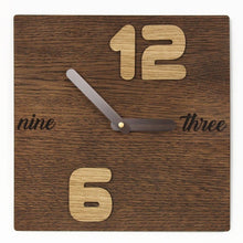 Load image into Gallery viewer, Minimalist clock Wooden clock Industrial clock Wooden wall clock