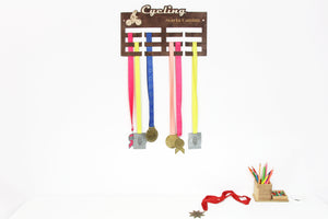Custom medal holder Cycling Personalized medal hanger Medal display Cycling gifts