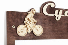 Load image into Gallery viewer, Custom medal holder Cycling Personalized medal hanger Medal display Cycling gifts