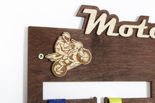 Load image into Gallery viewer, Motor GP Medal hangers Personalized medal hanger Meday display Motorcycle gifts