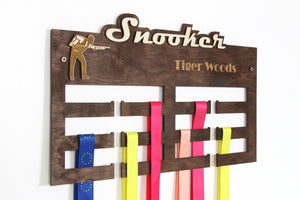 Snooker medal hangers Personalized medal hanger Medal display