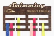 Load image into Gallery viewer, Medal hangers Swimming Personalized medal hanger Medal display Swimming gifts