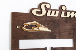 Medal hangers Swimming Personalized medal hanger Medal display Swimming gifts
