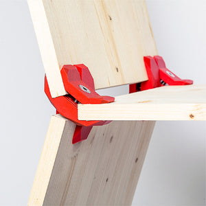 promidesign connectors playwood plastic wood connect wooden design shelf