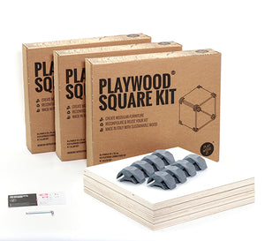 playwood connector wooden connectors promidesign design connect create shelves furniture living room garden children plastic brackets panels modular kit