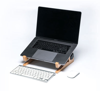 Laptop riser wooden laptop stand keyboard birch plywood promidesign
