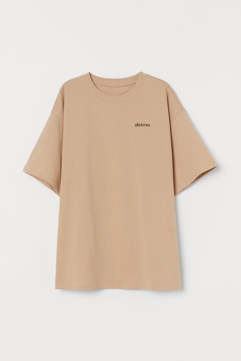 Beige dames T-shirt
