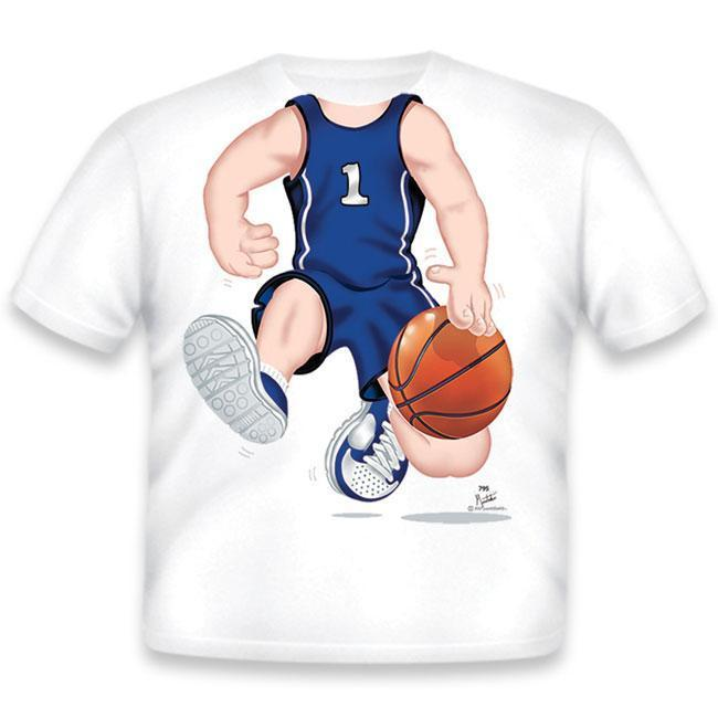 T-Shirt Basketball Dark Blue Youth X Small T-Shirt