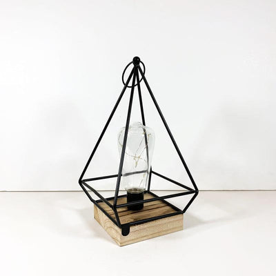 Pyramid-retro-LED-Metal-Lamp