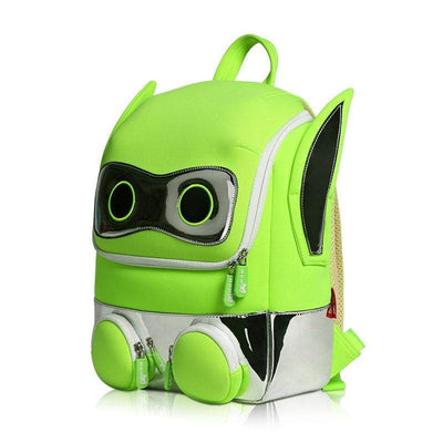 Nohoo Neoprene Kids Backpack Robot Green
