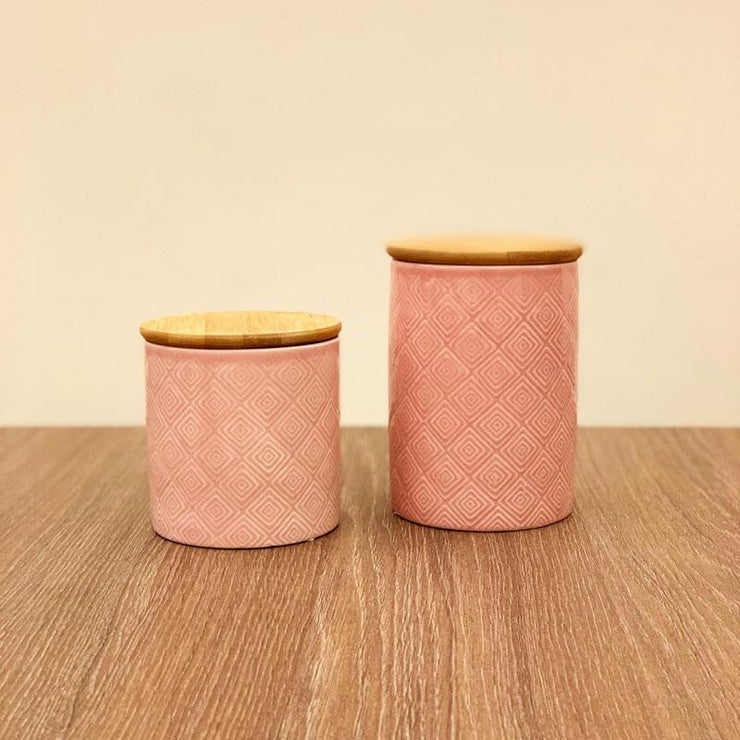 Porcelain Canister Set of 2
