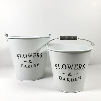 Tin Flower Pot