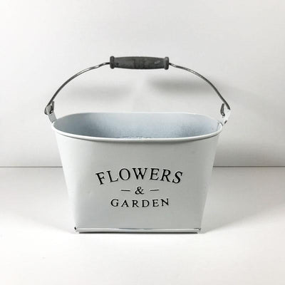 Tin Flower Pot Oval