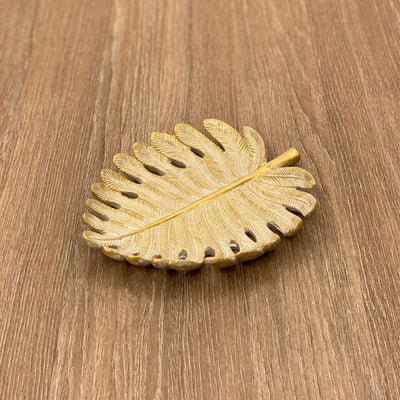 Golden Leaf Plate