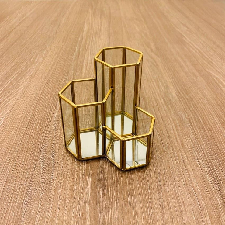 Geometric Makeup/Pen Holder
