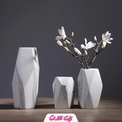 White Marble Flower Pot