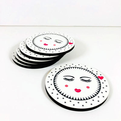 Sweet Girl Coasters set of 6