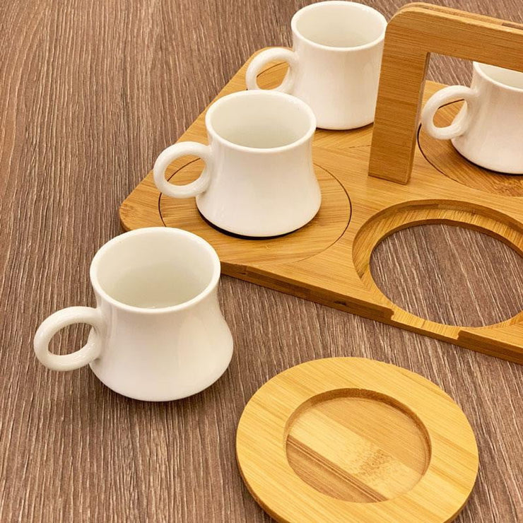Tea Cups Set with Tray