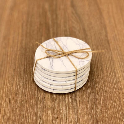 Wood Marbel Design Coasters