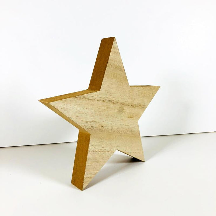 Wood Star Decoration