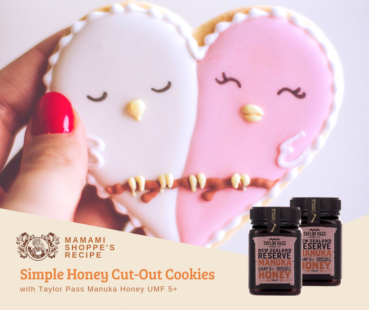 Simple Honey Cut-Out Cookies with Taylor Pass Manuka Honey UMF 5+
