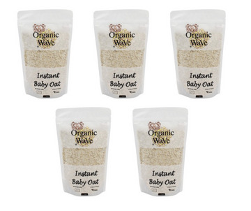 Organic Wave Organic Instant Baby Oats 500g x 5 - Mamami Shoppe