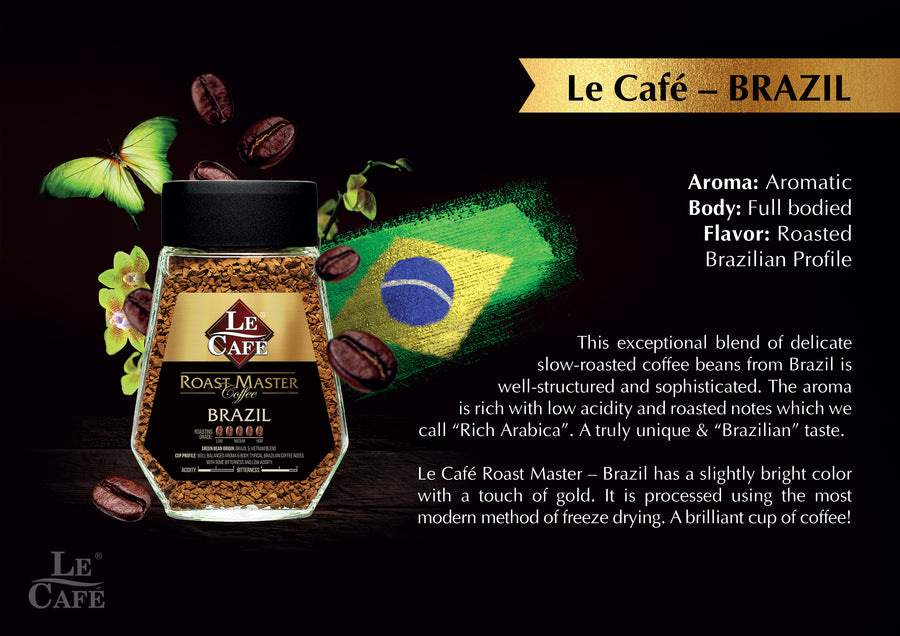 Le Cafe Roast Master Coffee - Brazil 100g - Mamami Shoppe