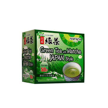 Harada Green Tea with Matcha 2g x 50 pcs (100g) - Mamami Shoppe