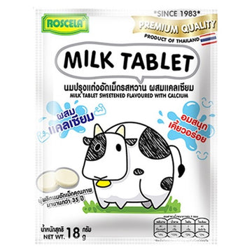 Roscela Vanilla Milk Tablet With Calcium 18g - Mamami Shoppe