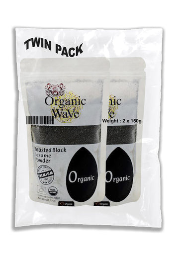 Twin Pack Organic Wave Organic Black Sesame Powder 150g - Mamami Shoppe