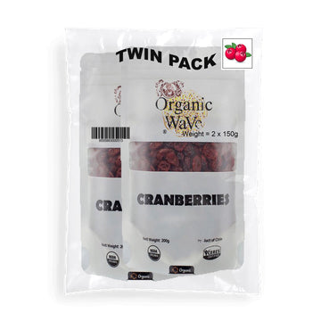 Twin Pack Organic Wave Organic Cranberry 80g - Mamami Shoppe