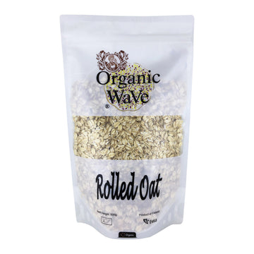 Organic Wave Rolled Oat 500g
