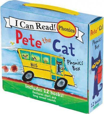 Pete the Cat 12-Book Phonics Fun!: Includes 12 Mini-Books Featuring Short and Long Vowel Sounds