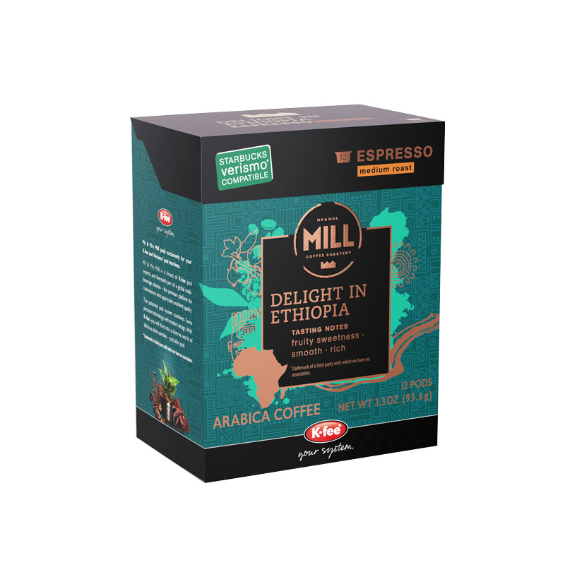 Mr and Mrs mill of Delight in Ethiopia box in teal