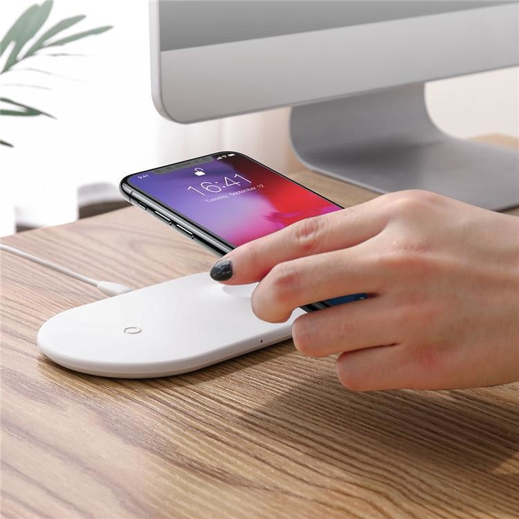 WRLS 2-IN-1 WIRELESS CHARGING STATION
