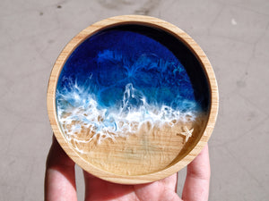 Signature Blue Seascape Wooden Trinket Dish: #2